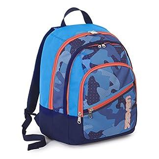 Mochila FIT – SEVEN – MIMETICAL – doble compartimiento – camuflaje azul 28Lt
