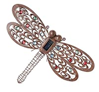 Cole & Bright Dragonfly Wall Art Light Solar LED Battery Outdoor Garden Décor by Cole & Bright