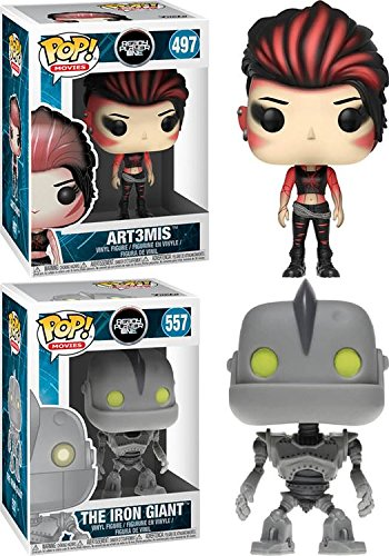Funko POP Ready Player One Art3mis The Iron Giant Stylized Vinyl Figure Bundle Set NEW