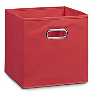 schrankkorb regalkorb stoffbox vlies in rot 32x32x32cm f r ikea kallax expedit dr na und anderen. Black Bedroom Furniture Sets. Home Design Ideas