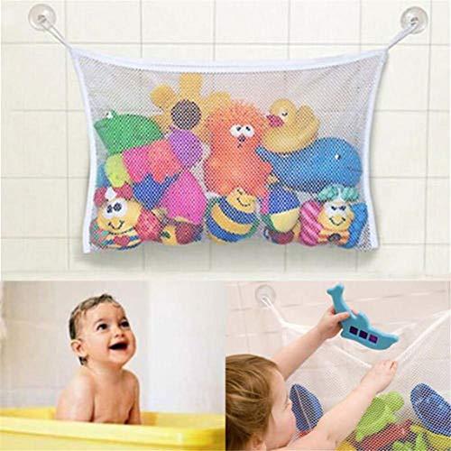 d Spielzeug Netz für Badewanne Spielzeugnetz & Badezimmer Lagerung mit 2 Ultra Strong Hooked Saugnäpfe 1 x Mesh Bad Spielzeug Organizer - Multi-Use-Dusche Taschen machen ()