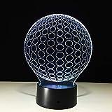 Golf 3d led nachtlicht für baby schlafzimmer nightlights kreis ball von acryl tischlampe wohnzimmer bedr