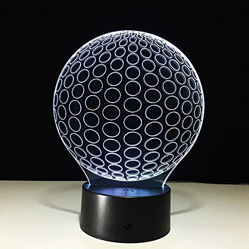 Golf 3d illusion fernbedienung nachtlichter kreis ball von acryl lampe wohnzimmer bedr, led schreibtisch tisch nachtlicht lampe
