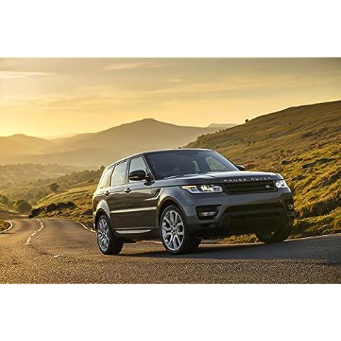 Clásico y músculo anuncios de coche y COCHE arte Land Rover Range Rover Sport V8sobrealimentados (2013) coche Póster en 10mil Archival papel satinado plateado parte delantera estática Vista, papel, Silver Front Side Static View, 36