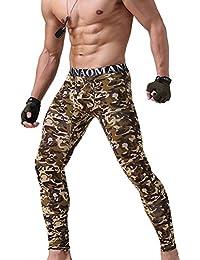 Pantalones Térmicos para Hombre - Largo Delgado Stretch Leggings Cómodo Algodón Ropa Interior Invierno Cálido Calzoncillos Capa Base Tamaño M-XXL