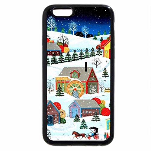 iPhone 6S / iPhone 6 Case (Black) Snowfall in Creek