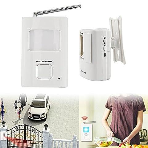 Hrph PIR Doorbell Wireless Infrared Movement Entry Bell Portable Door Bell Welcome Alarm Chime Motion Sensor