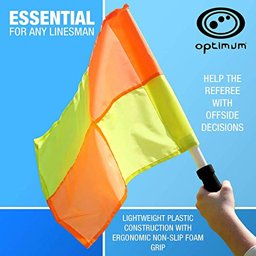 OPTIMUM Optimales Training Schiedsrichterassistenten Flagge Set, Orange/Gelb