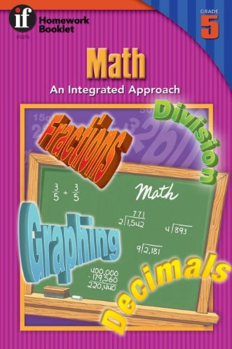 Math: An Integrated Approach Homework Booklet, Grade 5 (Homework Booklets) por Instructional Fair