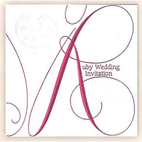 Wedding Invitation Pack & Inspirational Magnet (Ruby)