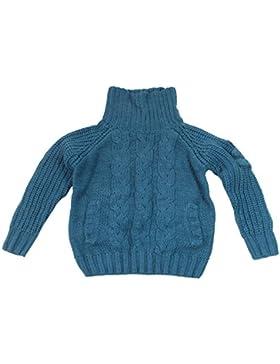 Maritimer Sudadera para niño infantil de cuello alto algodón con ancla bordado a partir de 2hasta 14años de...
