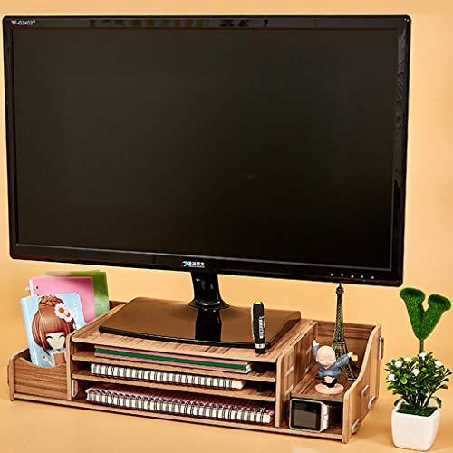 HKPLDE Monitorständer/Holz Bildschirmständer belüfteter Ergonomisches Stabiler mit Stauraum Bildschirmerhöhung Für Heim und Büro-F -