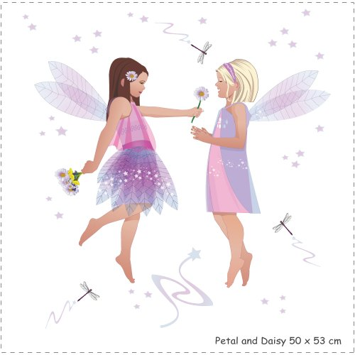 Kidscapes Friendship Fairies Wall Stickers, 93 fairy themed stickers create 7 large scenes.