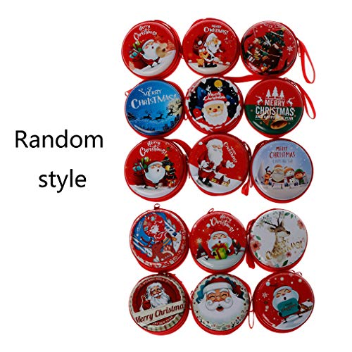 Price comparison product image GROOMY Year Christmas Coin Purse Key Pouch Earphone Zipper Bags Pouch Small Wallet Random Delivery