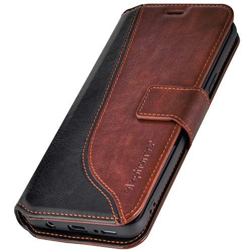 elephones® Samsung Galaxy S8 Hülle Handyhülle für S8 - Kompatibel mit Galaxy S8 Flip Case Schutzhülle - Braun (CTS8BRN)