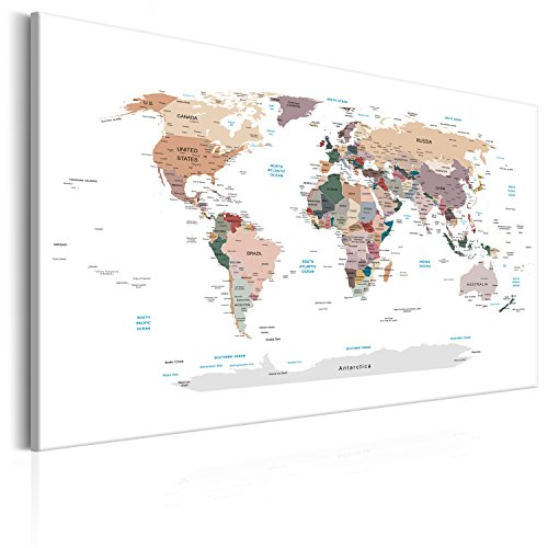 Cork map amazon pinboard map 120x80 cm 472 by 315 in 3 colours to choose image printed on non woven canvas with cork backing poster pin board world map gumiabroncs Gallery