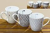 Jumbobecher kleine Anker, 3 Farben,Kaffeebecher,Teetasse,große Tasse,Porzellan, Ankertasse,maritimes Geschirr, 400ml, H11cm Farbe beige