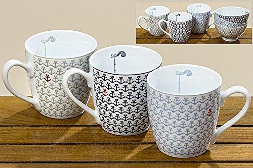 ZENS Kaffeebecher Set gro/ß 400ml aus Porzellan 2er Set Teetasse Kaffeetasse mordern Design Brau /& Hellrosa