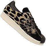 adidas Damen Superstar 80S W S81328 Sneaker, Mehrfarbig (Black, Beige 001), 42 EU