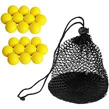MagiDeal 20 Piezas Bolas de Golf PU Suave Espuma +1 Pieza Bolsa de Golf Pelota de Tenis 50 Bolas Transporte Titular de Almacenamiento