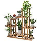 Blumenständer Massivholz 6-Schicht asymmetrischen Garten innen fleischigen Blumentopf Rack, geeignet für Wohnzimmer/Balkon / Flur