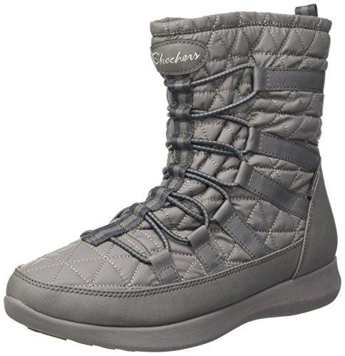 Skechers Damen Boulder Stiefel, Grau (Charcoal), 39 EU (Stiefel Winter Skechers)