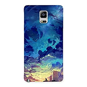 Special Cloud Art Back Case Cover for Galaxy Note 4
