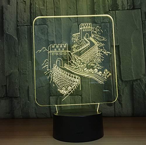 Acrílico Vidrio Colores Cambiando Animal Caballo Led Nightlights 3D Luz Led Mesa Lámpara De Mesa Usb 5V Lámpara Decoración Del Hogar Regalo Para Niños (De Para Mesa Decoracion Halloween)