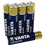 Varta Longlife Batterie AAA Micro Alkaline Batterien LR03-8er Pack