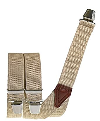 Hosenträger mit 3 Clips extra starkes Band! Flachsoptik