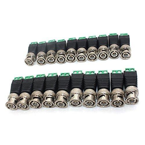 zramo 20PCS Q9Schraubklemmen Kamera Video BNC Stecker Balun Adapter Stecker für Koax CAT5CCTV Sicherheit Kamera Schraubklemme Cctv