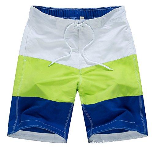 Pantaloncini da Bagno Uomo ,Costume da bagno Uomo Boxer con Tie anteriori Pantaloni Regolabile Costumi da bagno Traspirante Verde