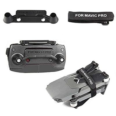 Transmitter Controller Stick Thumb Protective Clip Rocker+Propeller Lock Motor Holder Strap Prop Blade Stabilizer Protector Kit for Drone Transport Protection DJI Mavic Pro (DJI mavic not included)