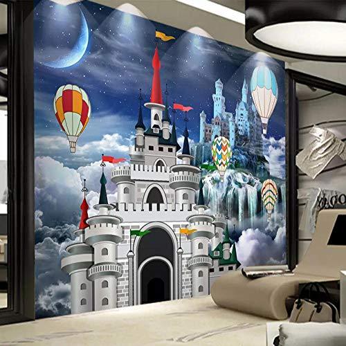 Fototapete 3D Schloss Märchen Foto Wandmalerei Kinderzimmer Cartoon Hintergrund Wanddekor 250X175Cm
