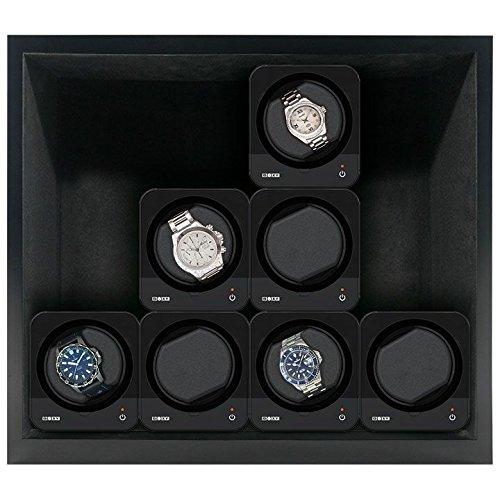 Beco Boxy HOUSE für Fancy Brick Uhrenbeweger - SCHWARZ - inkl. Grundplatte für die Stromspeisung von 1 bis 12 modularen Fancy Brick Uhrenbewegern dank Power Sharing Technologie - von Beco Technic