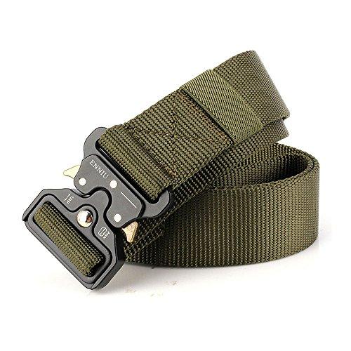 MUMUGO,Tactical Gürtel,Heavy Duty verstellbare Military Style Nylon Gürtel mit Zink Legierung Schnalle, militärischen Schnellverschluss Schnalle Taillenband