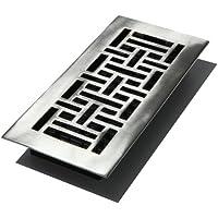 Decor Grates 10,2cm da 25,4cm Oriental Floor register, argento, AJ410-NKL