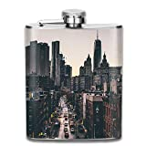 Edelstahl Flachmann,Stainless Steel Hip Flask 7 Oz (No Funnel) Street Wallhaven City Full Printed
