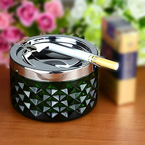 WYQLZ Home Decoration with lid stainless steel ashtray creative personality fashion gift Send