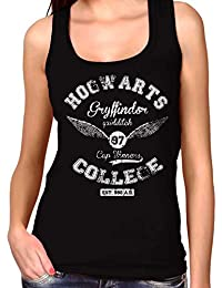 35mm - Camiseta Mujer Tirantes Hogwarts Gryffindor Quidditch