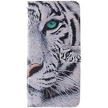 Coffeetreehouse - Bolso pequeño al hombro para mujer blanco (White Tiger) iPhone 6 Plus /6S Plus