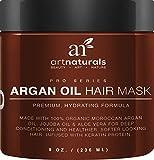 Art Naturals Argan Oil Hair Mask 237ml- Infused with 100% Organic Jojoba Oil, Aloe Vera & Keratin