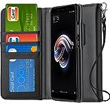 Ferilinso Cover Xiaomi Redmi Note 5 Custodia, Cover Cuoio genuino reale con Custodia Slot Holder per...