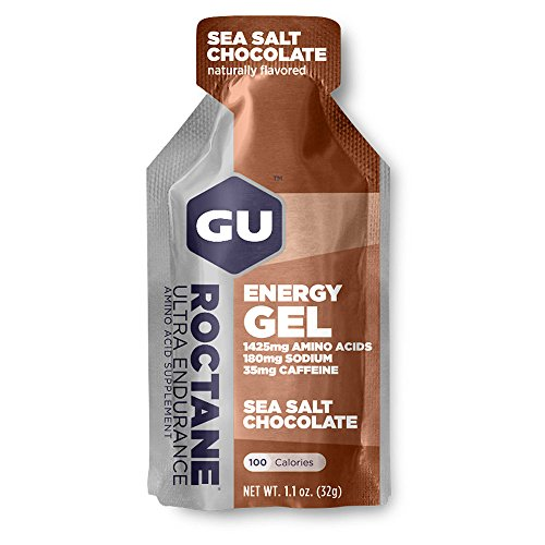GU Roctane Ultra Endurance Energy Gel – Box of 24 x 32 G Sea Salt Chocolate (Chocolate Sea Salt)
