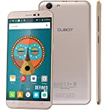 Cubot Note S Smartphone ohne Vertrag (5.5 Zoll (13,9 cm) HD Touch-Display mit 4150mAh Akku, 2GB Ram/16GB interner Speicher, Android 6.0, Dual-SIM, 5MP/8MP dual Kamera, Quad-Core Prozessor, IPS 2.5D gebogener Bildschirm) für T-mobile, Vodafone, o2-de, E-Plus usw (Gold) [ Cubot Offiziell ]