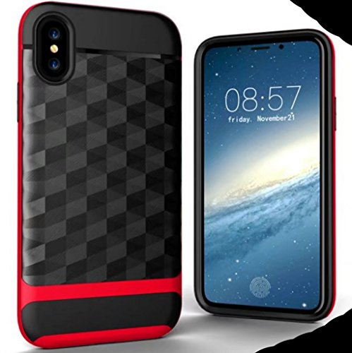 iPhone6S Plus Soft Carben Fiber Case, Very Light Slim Gentlemans Gridding Style, WEIFA 2017 Newest Super Cool Anti-Drop Protection CellPhone Cover Case For iPhone 6Plus Blue !Red