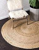 Einzigartige Loom 3138967Moderne Solid 3Füße 5,1cm (3'5,1cm rund) geflochtenen Jute modernes Bereich Teppich, 3x 3, Natur