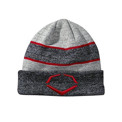 EvoShield Herren Knit Hat Strickmütze, Navy/Scarlet, Einheitsgröße