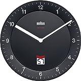 Braun-Funkwanduhr, LCD, Stille Deutsche Präzision Quarzwerk BNC006BKBK