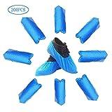 Blau Überschuhe mit Antirutschsohle CPE Wasserfest | Onesize | Reißfest | Durchriebsicher | Einweg | Indoor | Outdoor | Schuhüberzieher | Überziehschuhe | (200)